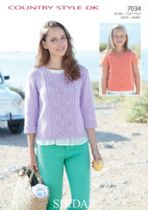 Sirdar Country Style DK - 7034 Jumper & Top Knitting Pattern